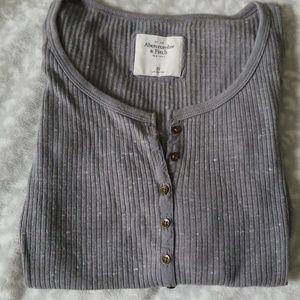 Long sleeve Henley slim fit shirt